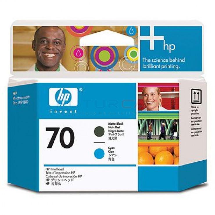 HP 70 - C9404A - Cyan, noire mat