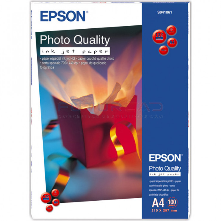 EPSON - Papier Couché Qualité Photo - A4 - 102g - 100 feuilles