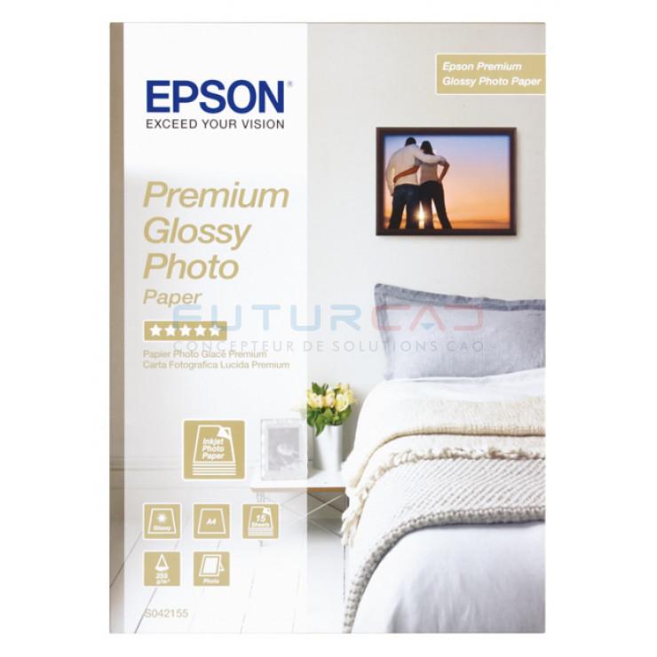 EPSON - Papier Photo Premium Glacé - A4 - 255 g/m² - 15 feuilles