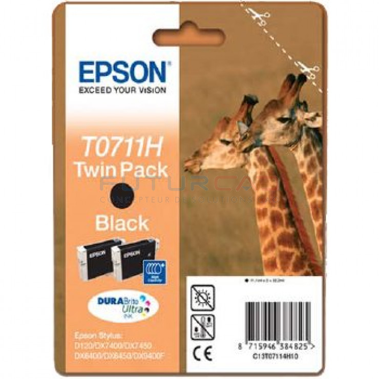 EPSON T0711H - Twin Pack - C13T07114H10