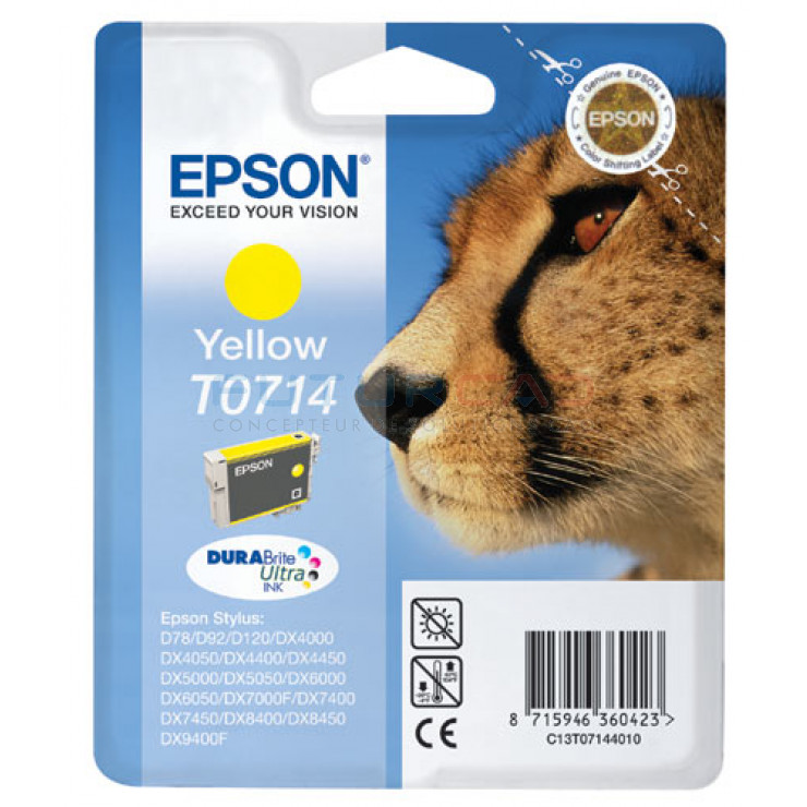 EPSON T0714 - Jaune - C13T07144011
