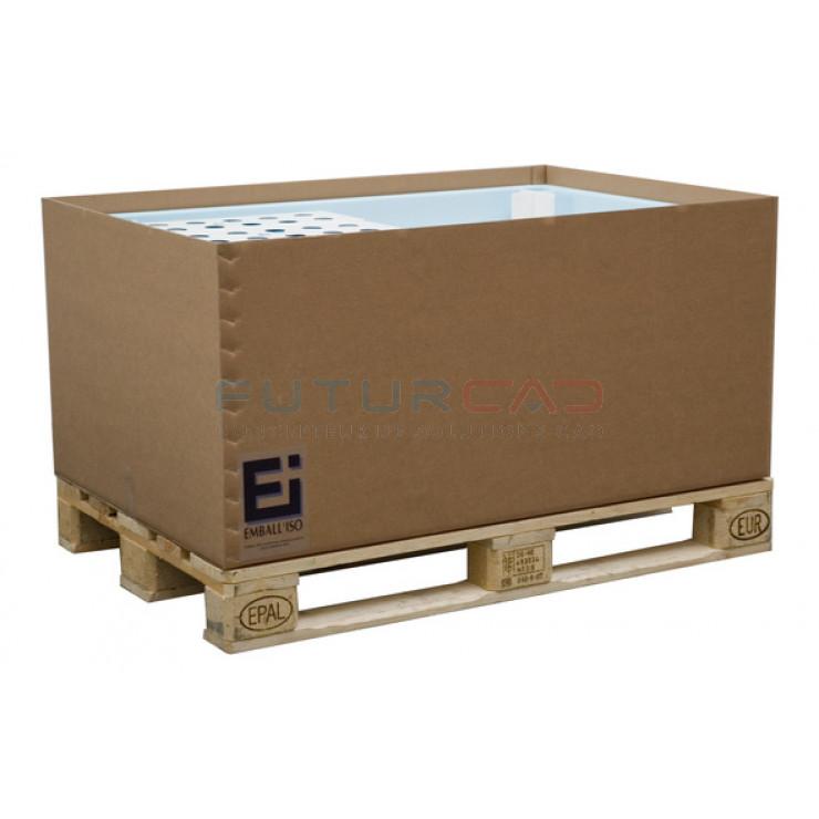 FUTURCAD - Bobine Papier PPC - 0.914x175m - 75g - Mandrin collé - Palette de 32 bobines en box