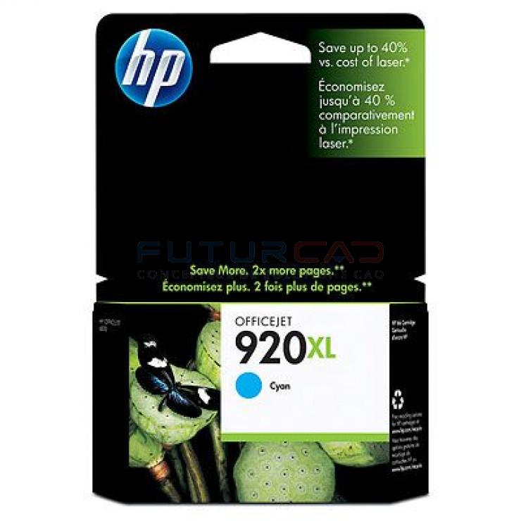 HP 920XL - Cartouche d'encre cyan - CD972AE