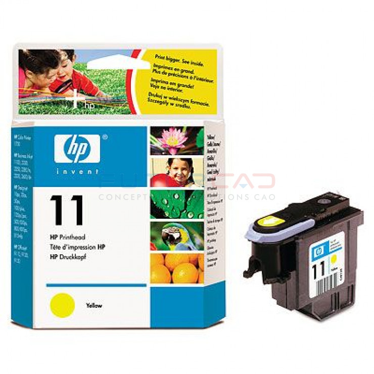 HP 11 - C4813A - Tête d'impression Jaune