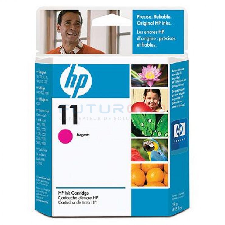 HP 11 - C4837A - Cartouche d'encre Magenta - 28 ml
