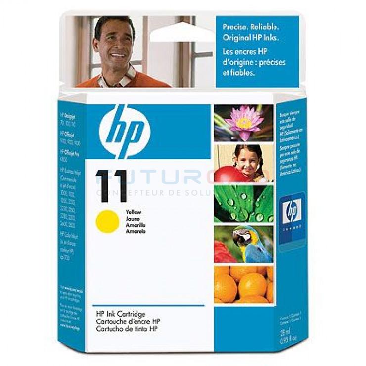 HP 11 - C4838A - Cartouche d'encre Jaune - 28 ml