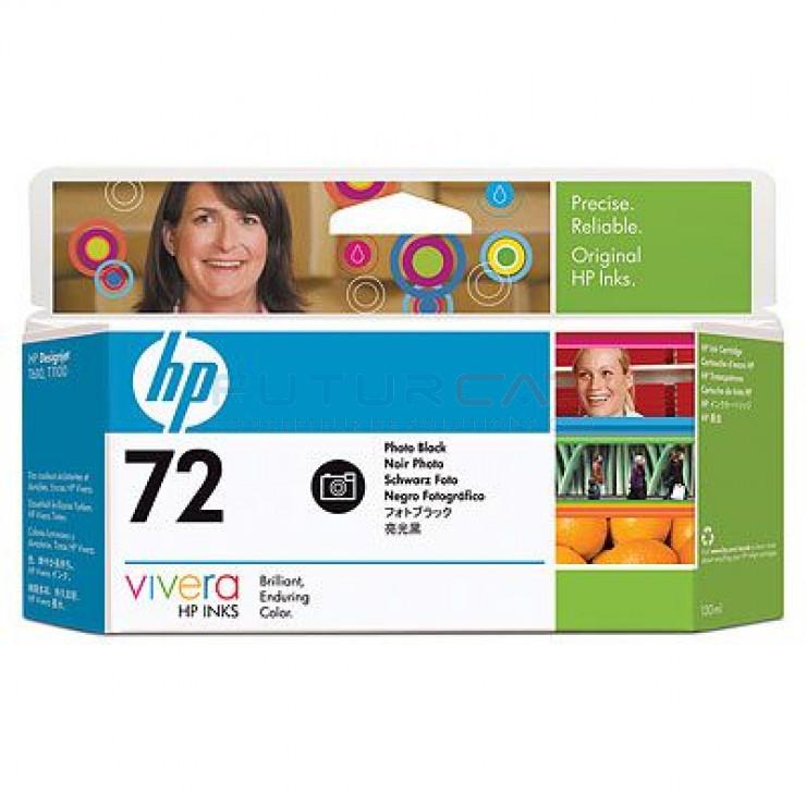 HP 72 - Cartouche d'encre - Noir photo - 130 ml