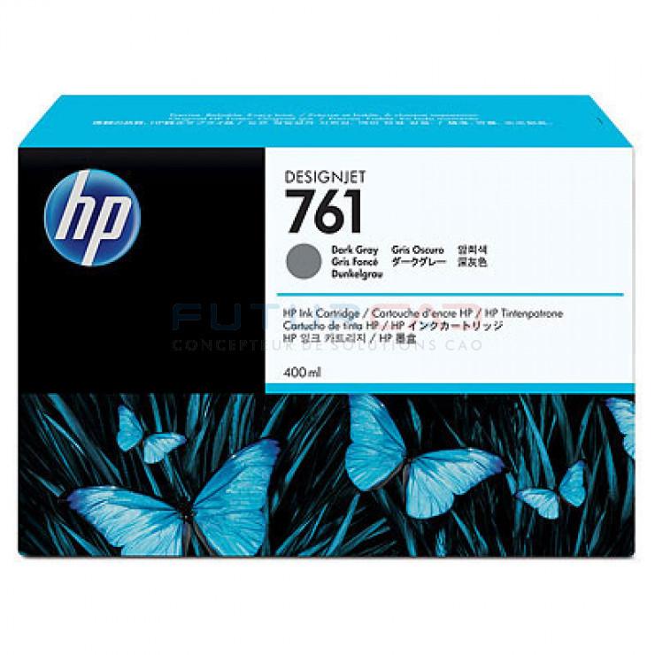 HP 761 - CM996A - Cartouche d'encre d'origine - 1 x gris foncé - 400 ml