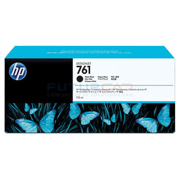 HP 761 - CM997A - Cartouche d'encre d'origine - 1 x noir mat - 775 ml