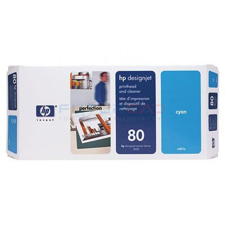 HP 80 - Tête d'impression Cyan et dispositif de nettoyage - C4821A