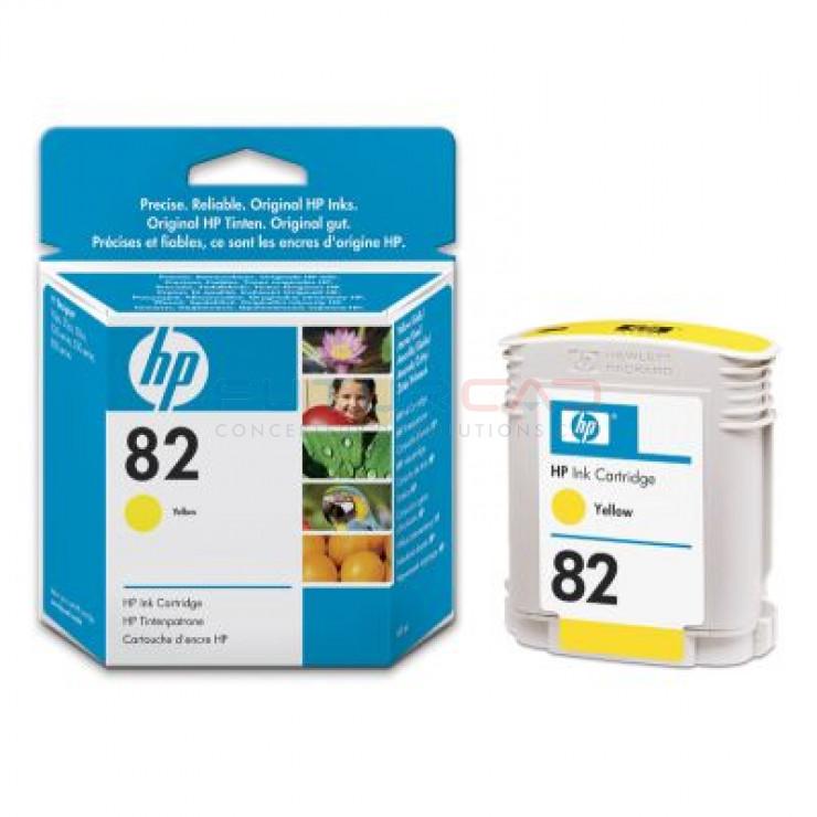 HP 82 - C4913A - Cartouche d'encre Jaune - 69 ml