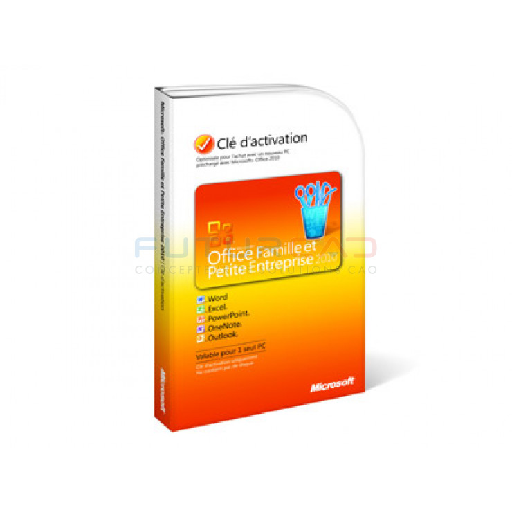MICROSOFT Office Home and Business 2010 - Licence - 1 x PC - Windows - Français