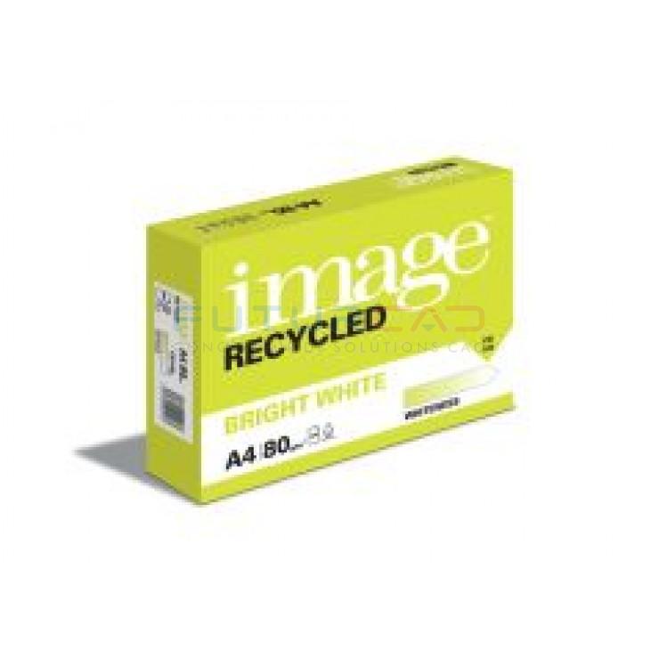 IMAGE - Bright White - Ramette Papier 100% Recyclé - A4 - 80g - Carton de 5 ramettes