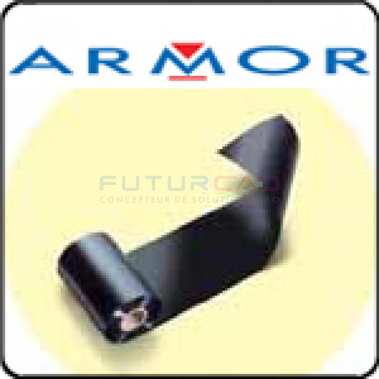 ARMOR - FILMS TRANSFERTS THERMIQUES - CIRE ‐ RESINE NOIRE - 60mmx300m