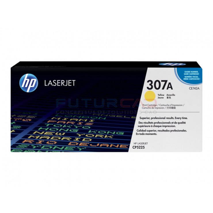 HP 307A cartouche de toner jaune 7300 pages CE742A