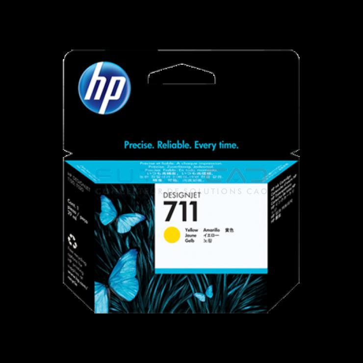 HP 711 - Cartouche d'encre jaune - 29 ml - CZ132A