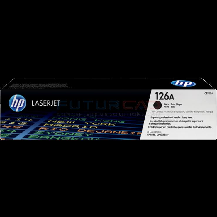 HP toner 126A - CE310A - Cartouche de toner noir - 1200 pages