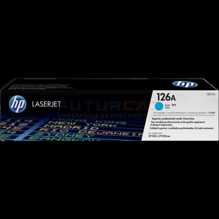 HP toner 126A - CE311A - Cartouche de toner cyan - 1000 pages