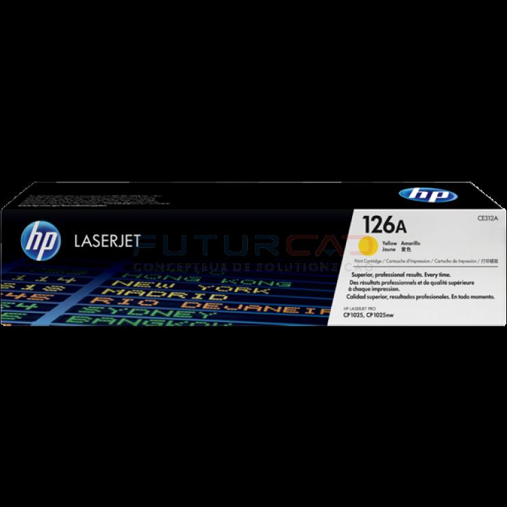 HP toner 126A - CE312A - Cartouche de toner jaune - 1000 pages