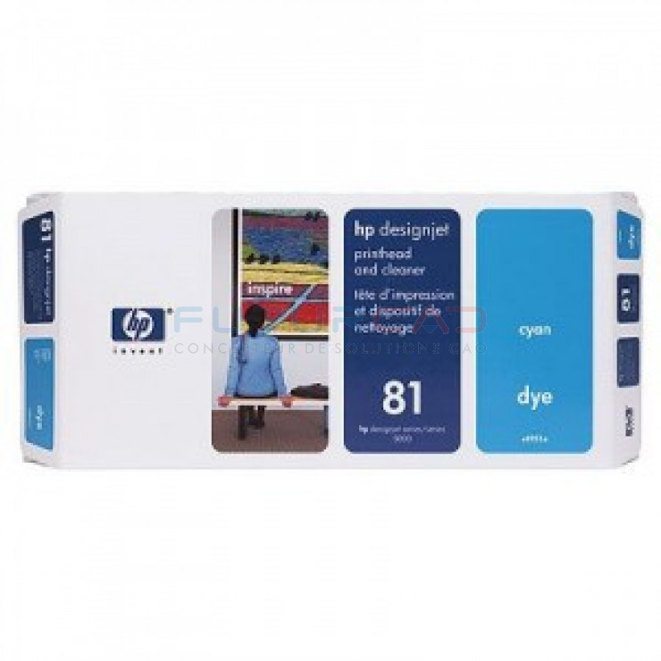 HP 81 - C4951A - Tête d'impression cyan