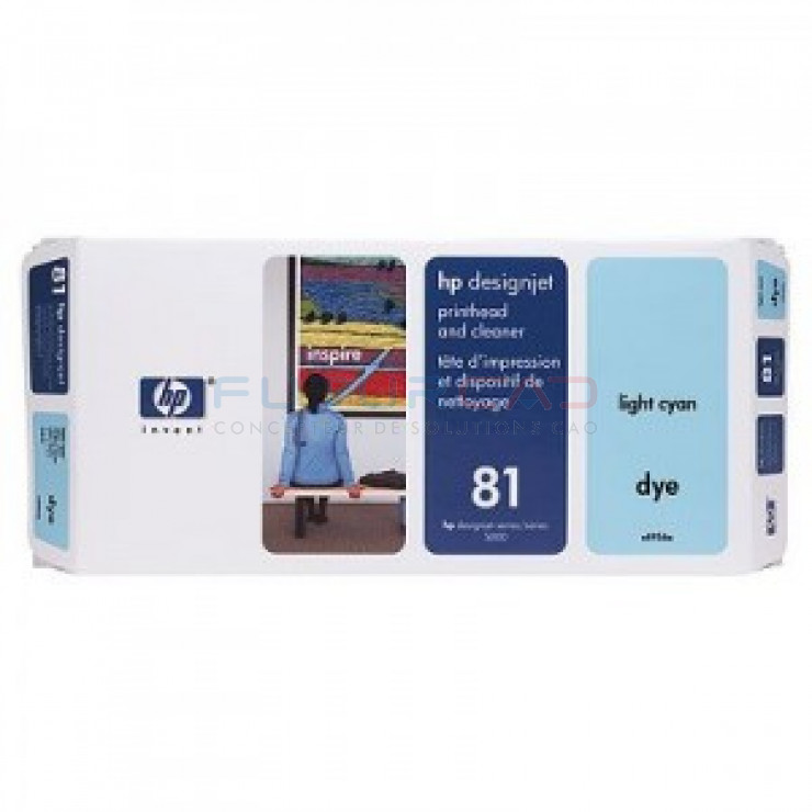 HP 81 - C4954A - Tête d'impression cyan clair