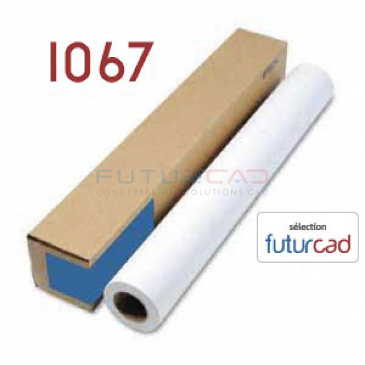 FUTURCAD - Bobine Papier Jet d'Encre Couché Mat - 1.067x45m - 100g
