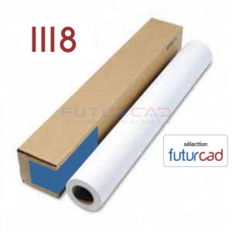 FUTURCAD - Bobine Papier Jet d'Encre Couché Mat - 1.118x30m - 180g