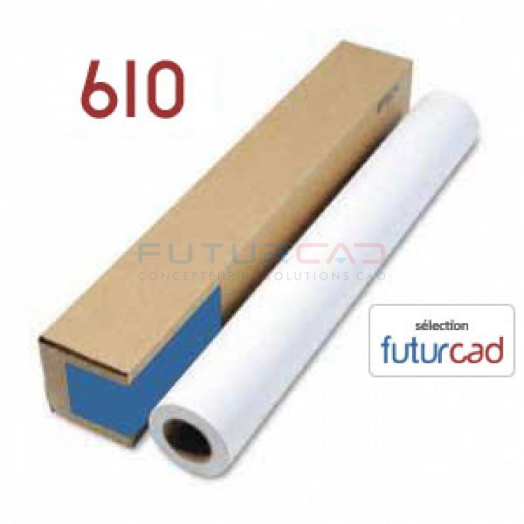 Bobine Papier Jet d'Encre Couché Mat - 0.610x30m - 125g