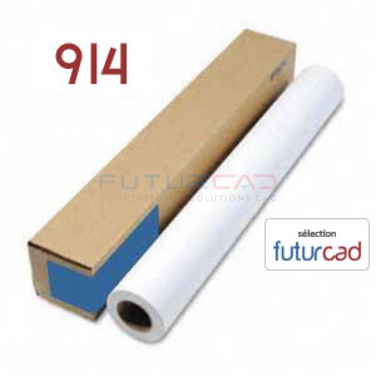 FUTURCAD - Bobine Papier Jet d'Encre Couché Mat - 0.914x30m - 180g