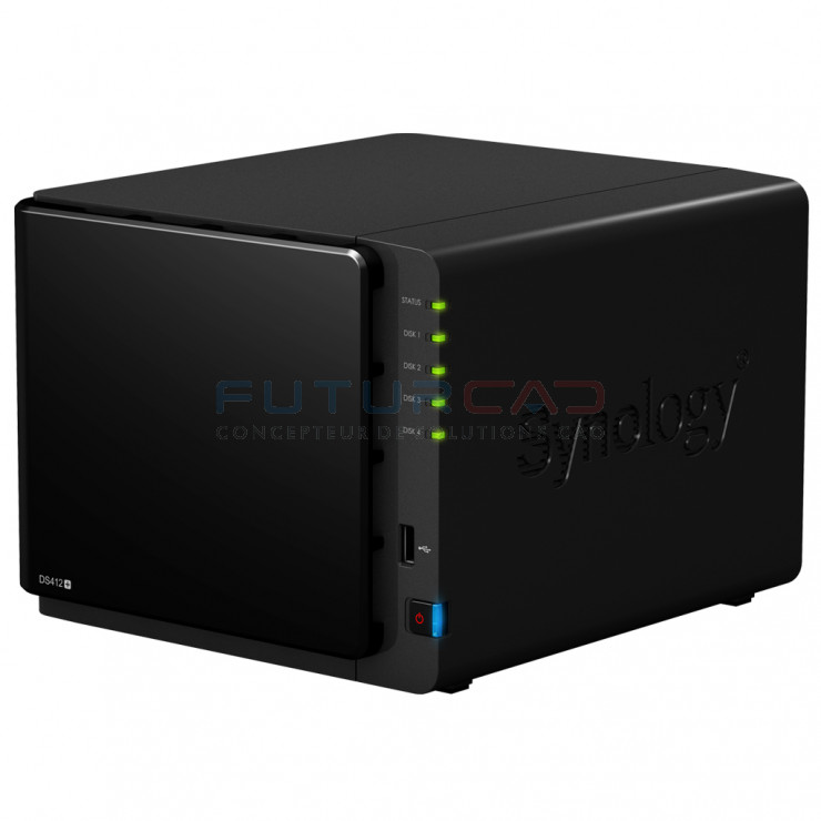 SYNOLOGY DiskStation DS412+ - Serveur NAS - 4 baies - Z660055