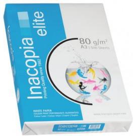 INACOPIA - Elite - Ramette Papier Extra Blanc - A3 - 80g - Cartons de 5 ramettes
