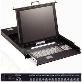 Commutateur KVM - Tiroir Console Rack - SH7154KVM8