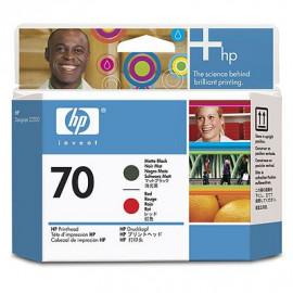 HP 70 - C9409A - Rouge, noire mat