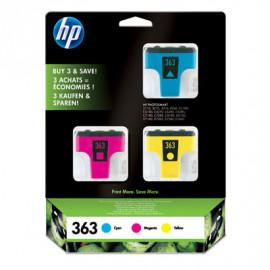 HP 363 - CB333EE - Pack de 3 cartouches d'encre Cyan/Magenta/Jaune