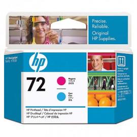 HP 72 - Tête d'impression - Magenta et cyan