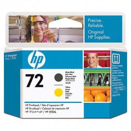 HP 72 - Tête d'impression - Jaune et noir mat