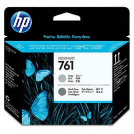 HP 761 - CH647A - Tête d'impression d'origine - 1 x gris et 1 x gris foncé