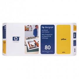 HP 80 - Tête d'impression Jaune et dispositif de nettoyage - C4823A