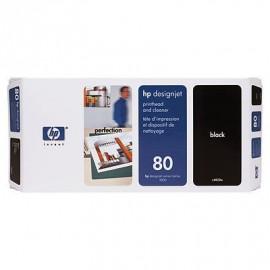 HP 80 - Tête d'impression Noire et dispositif de nettoyage - C4820A