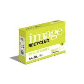 IMAGE - Bright White - Ramette Papier 100% Recyclé - A4 - 80g - Carton de 5 ramettes de 500 feuilles