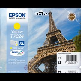 EPSON - T7024 - XL - Cartouche d'encre Tour Eiffel d'origine - 1 x jaune - 21 ml