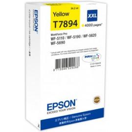 EPSON - T7894 - XXL - Cartouche d'encre d'origine - 1 x jaune - 65 ml