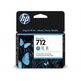 Cartouche d'encre Bright Office HP 712 cyan de 29 ml