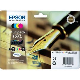 EPSON 16XL Multipack - Encres DURABrite Ultra Noire, Jaune, Cyan, Magenta