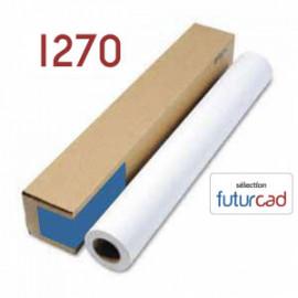 FUTURCAD - Bobine Papier Jet d'Encre Couché Mat - 1.270x35m - 120g