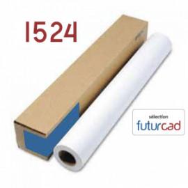 Bobine Papier Jet d'Encre Couché Mat - 1.524x30m - 125g