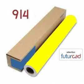 Bobine Papier Jet d'Encre Fluo Jaune - 0.914x45m - 95g
