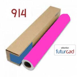 FUTURCAD - Bobine Papier Jet d'Encre Fluo Rose - 0.914x45m - 90g