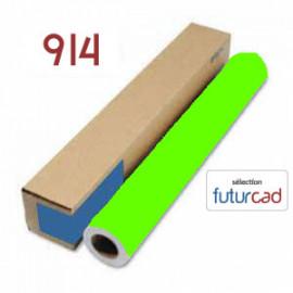 Bobine Papier Jet d'Encre Fluo Orange - 0.914x45m - 90g